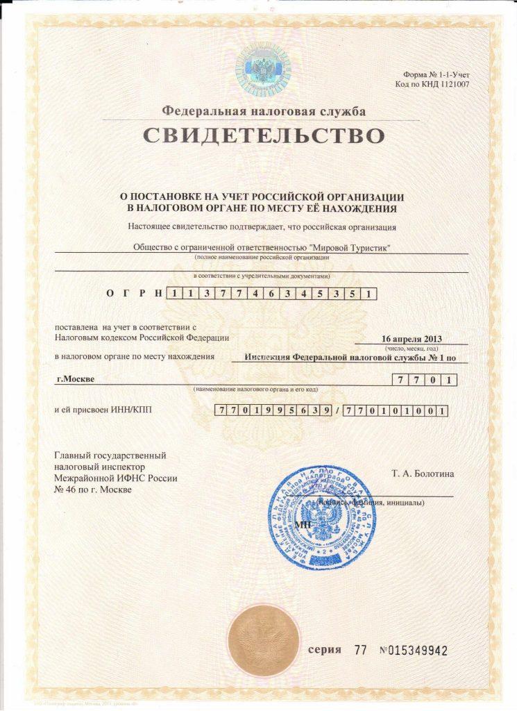 ИНН-КПП Документы